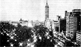 Мехико. Аламеда Сентраль и Латиноамериканская башня