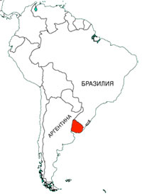 Уругвай, карта
